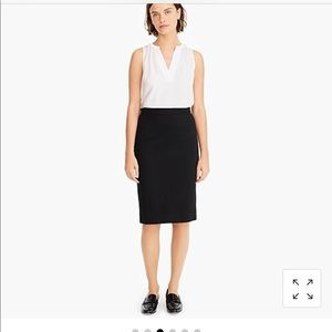 J. Crew No. 2 Stretch Twill Pencil Skirt Size 6